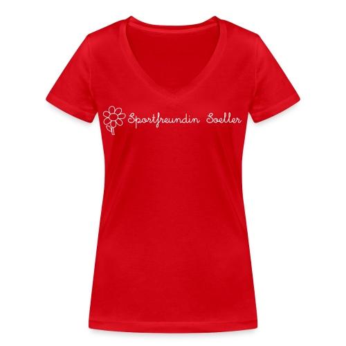 Sportfreundin Söller - Frauen Bio-T-Shirt mit V-Ausschnitt von Stanley & Stella