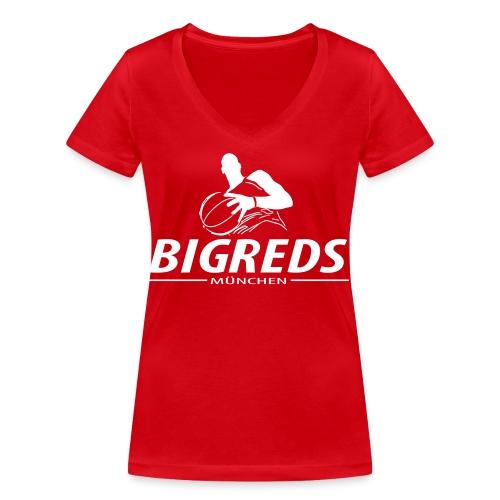 Bigreds Schrift mit Spie - Frauen Bio-T-Shirt mit V-Ausschnitt von Stanley & Stella