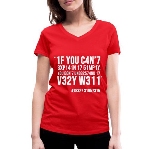 1337 5p34k - T-shirt bio col V Stanley & Stella Femme