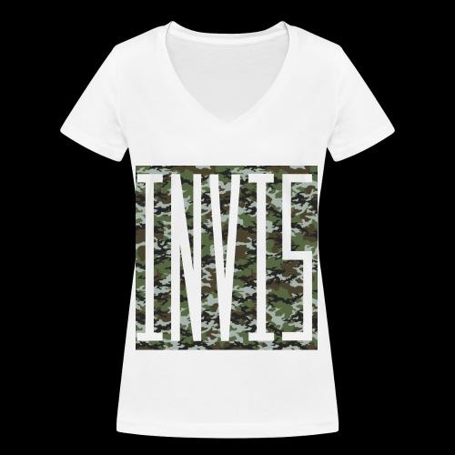 INVIS Camouflage - Frauen Bio-T-Shirt mit V-Ausschnitt von Stanley & Stella