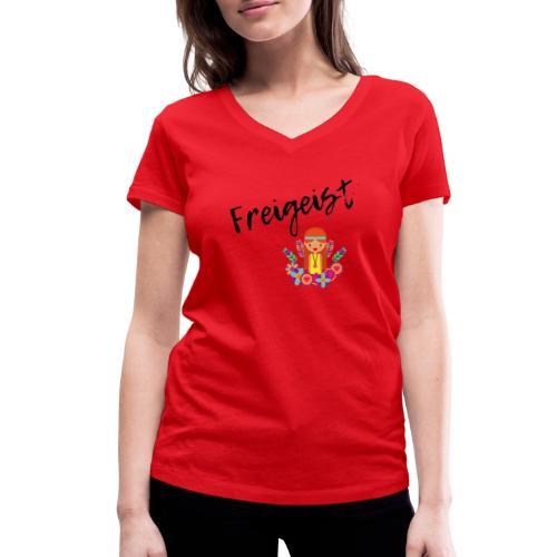FreiGeist - Frauen Bio-T-Shirt mit V-Ausschnitt von Stanley & Stella