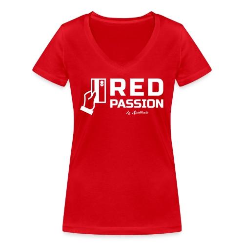 Red passion - T-shirt ecologica da donna con scollo a V di Stanley & Stella