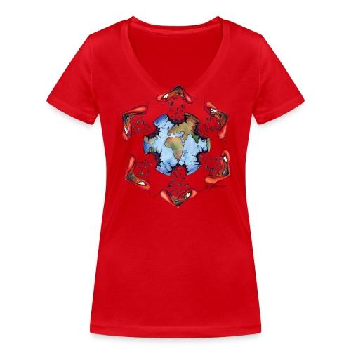 Égoïsme de l'être humain - T-shirt bio col V Stanley & Stella Femme