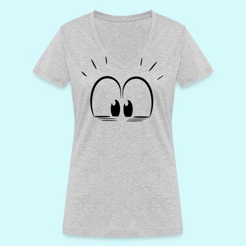 Überraschung Blick - Frauen Bio-T-Shirt mit V-Ausschnitt von Stanley & Stella