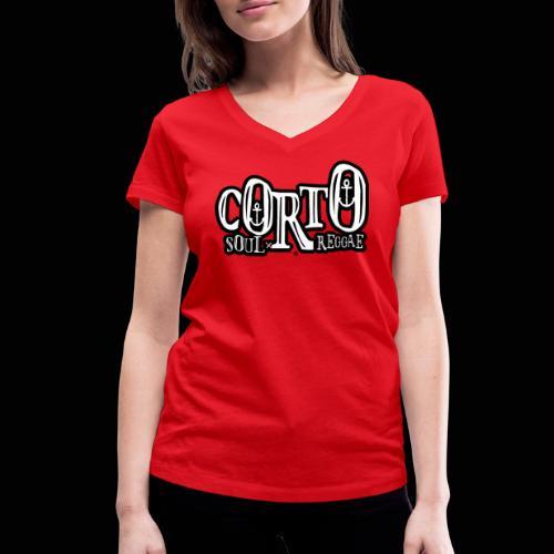 Corto, voyages Soul et Reggae - T-shirt bio col V Stanley & Stella Femme