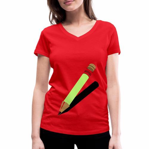 Ołówek - Ekologiczna koszulka damska z dekoltem w serek Stanley & Stella
