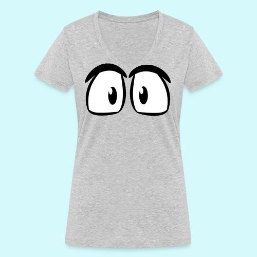 Comic Augen - Frauen Bio-T-Shirt mit V-Ausschnitt von Stanley & Stella