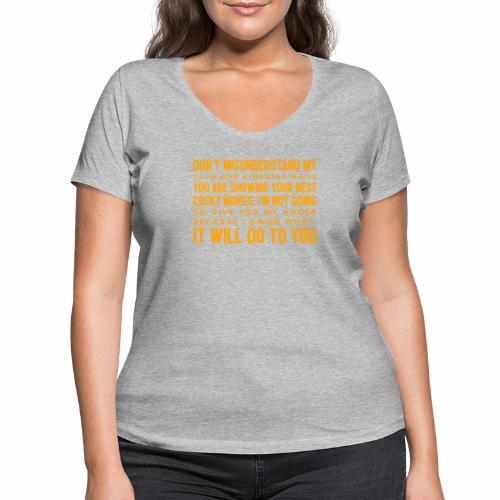 confidence - Økologisk Stanley & Stella T-shirt med V-udskæring til damer