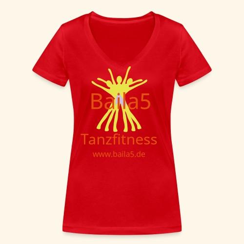 Baila5 Tanzfitness gelb - Frauen Bio-T-Shirt mit V-Ausschnitt von Stanley & Stella