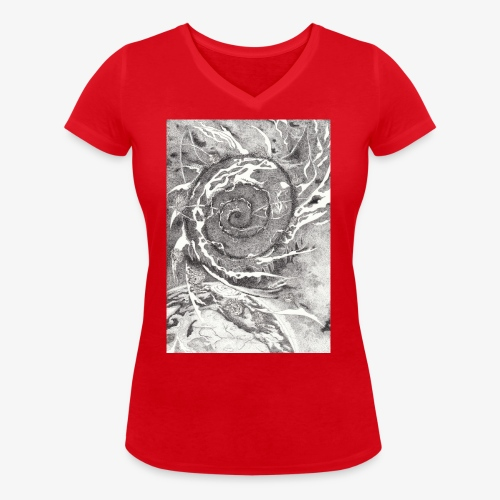 Decipher Entity by Rivinoya - Stanley & Stellan naisten v-aukkoinen luomu-T-paita