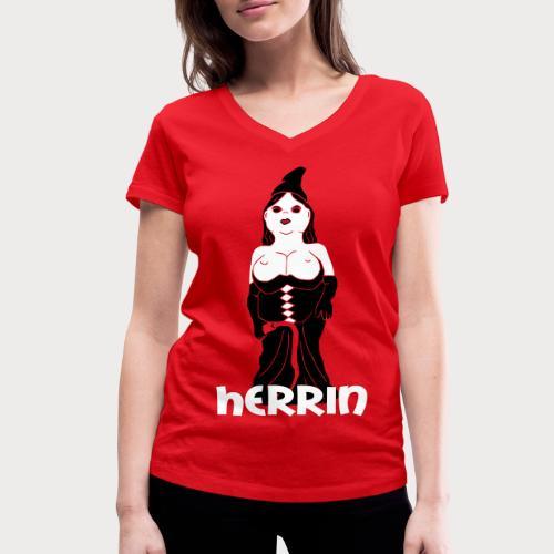 herrin zwerg - Frauen Bio-T-Shirt mit V-Ausschnitt von Stanley & Stella