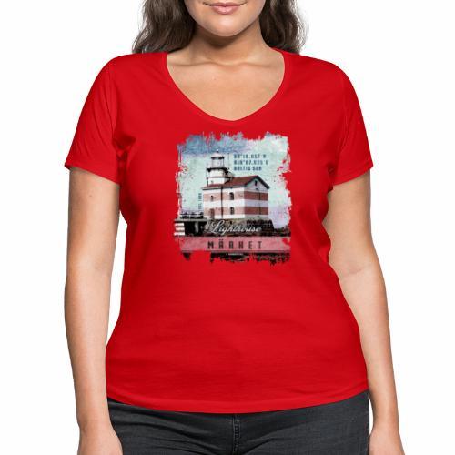 Märket majakkatuotteet, Finland Lighthouse, väri - Stanley & Stellan naisten v-aukkoinen luomu-T-paita