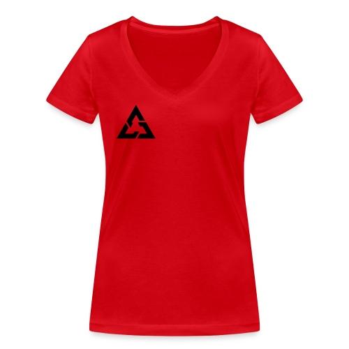Angle Logo Brand - T-shirt ecologica da donna con scollo a V di Stanley & Stella