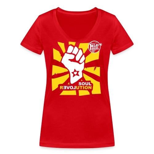MLO Soul Revolution Medium - Frauen Bio-T-Shirt mit V-Ausschnitt von Stanley & Stella