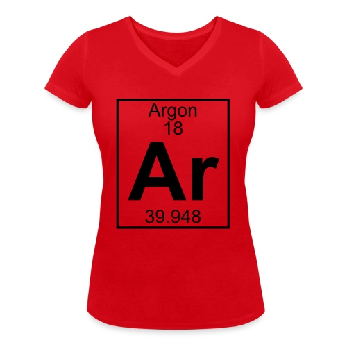 Argon (Ar) (element 18) - Women's Organic V-Neck T-Shirt by Stanley & Stella
