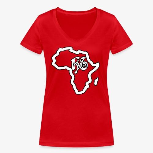 afrika pictogram - Vrouwen bio T-shirt met V-hals van Stanley & Stella