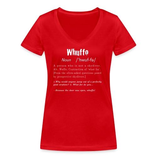 Whuffo? - Stanley & Stellan naisten v-aukkoinen luomu-T-paita