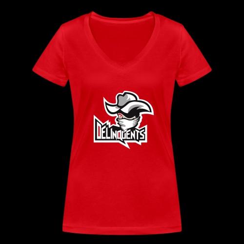 Delinquents TriColor - Økologisk Stanley & Stella T-shirt med V-udskæring til damer