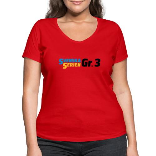 SSGr3 svart - Ekologisk T-shirt med V-ringning dam från Stanley & Stella