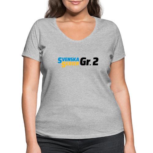 SSGr2 svart - Ekologisk T-shirt med V-ringning dam från Stanley & Stella