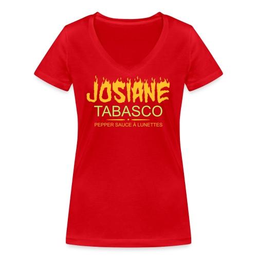 josiane tabasco - T-shirt bio col V Stanley & Stella Femme
