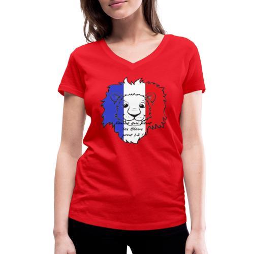 Lion supporter France - T-shirt bio col V Stanley & Stella Femme