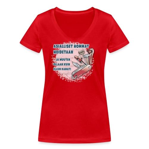 TYÖKALU todelliselle ammattilaisille, Tekstiilit.. - Stanley & Stellan naisten v-aukkoinen luomu-T-paita