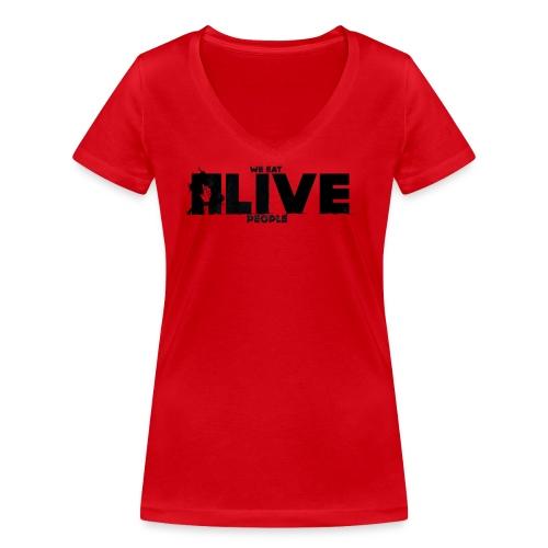 We eat Alive People - T-shirt bio col V Stanley & Stella Femme
