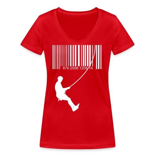Código de barra y escalante - Camiseta ecológica mujer con cuello de pico de Stanley & Stella