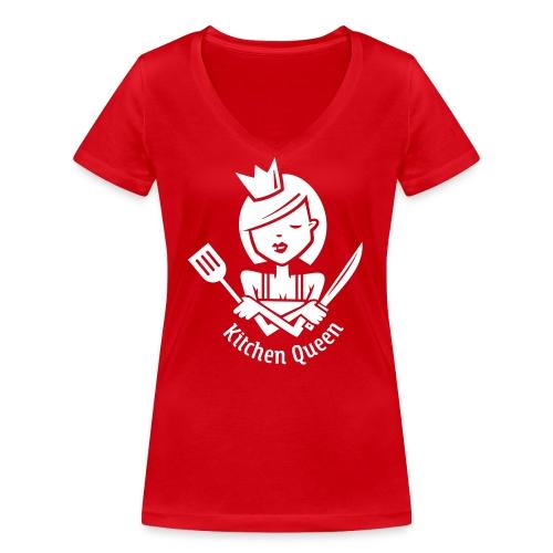 VL126_KitchenQueen_1c_inv - Frauen Bio-T-Shirt mit V-Ausschnitt von Stanley & Stella
