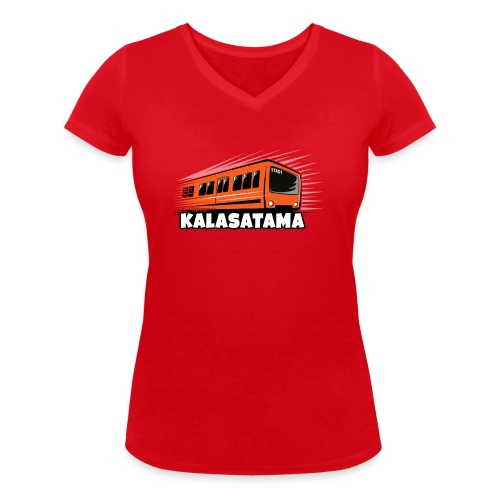 11- METRO KALASATAMA - HELSINKI - LAHJATUOTTEET - Stanley & Stellan naisten v-aukkoinen luomu-T-paita