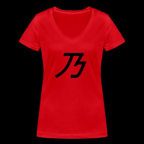 B Logo - Økologisk Stanley & Stella T-shirt med V-udskæring til damer