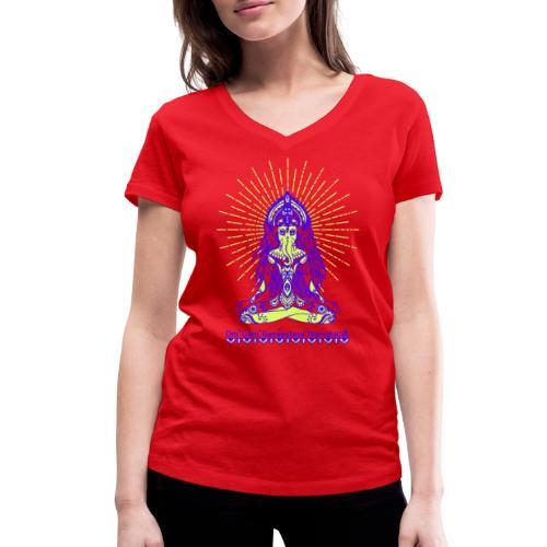 Yogafashion Hippie Ganesha dein Glücksgott - Frauen Bio-T-Shirt mit V-Ausschnitt von Stanley & Stella
