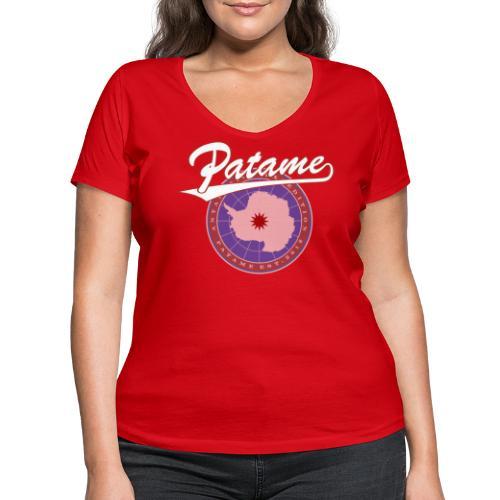 Patame Antarctica Expedition - Frauen Bio-T-Shirt mit V-Ausschnitt von Stanley & Stella