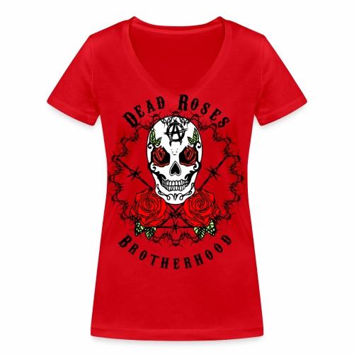Dead Roses 2nd Logo - Women's Organic V-Neck T-Shirt by Stanley & Stella