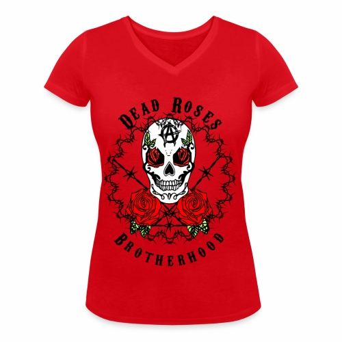 Dead Roses 2nd Logo - Women's Organic V-Neck T-Shirt by Stanley & Stella