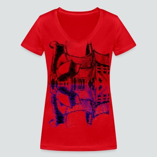 Concert Hall 3 png - Frauen Bio-T-Shirt mit V-Ausschnitt von Stanley & Stella