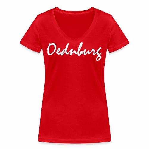 Oednburg Wit - Vrouwen bio T-shirt met V-hals van Stanley & Stella