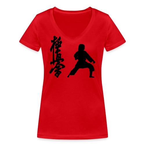 Gedan Barai - Camiseta ecológica mujer con cuello de pico de Stanley & Stella