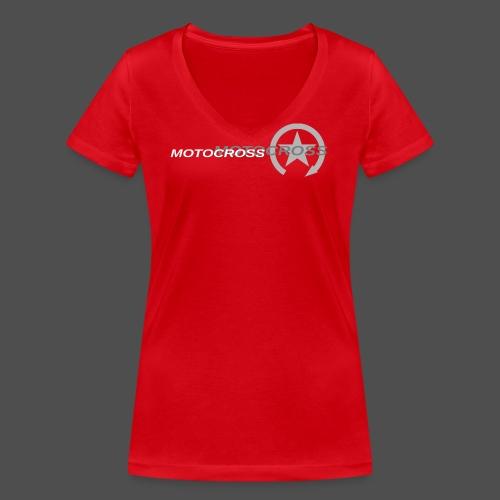 MOTOCROSS - Ekologiczna koszulka damska z dekoltem w serek Stanley & Stella