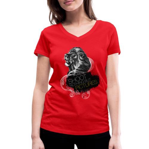 Cecil voor op een gekleurd shirt - Women's Organic V-Neck T-Shirt by Stanley & Stella