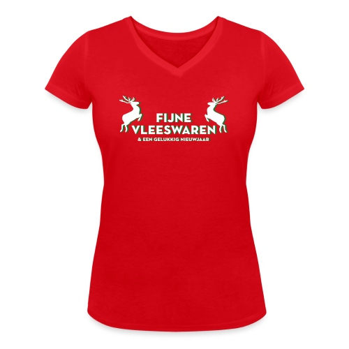 Fijne Vleeswaren - Vrouwen bio T-shirt met V-hals van Stanley & Stella