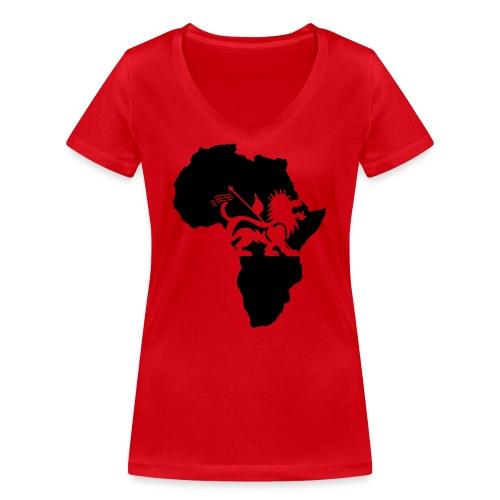 lion_of_judah_africa - Women's Organic V-Neck T-Shirt by Stanley & Stella
