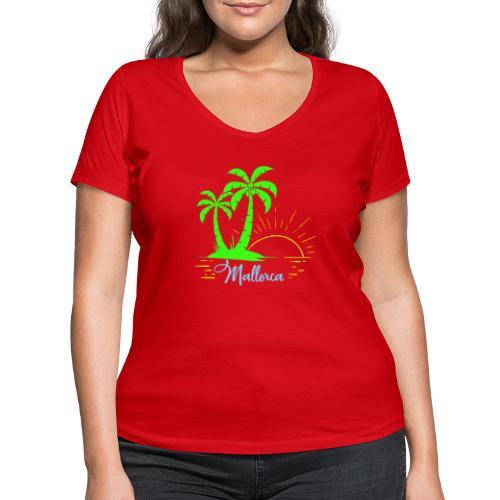 Die goldenen Sonnenuntergänge von Mallorca - Frauen Bio-T-Shirt mit V-Ausschnitt von Stanley & Stella