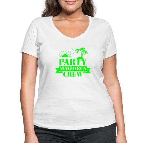 Mallorca PARTY Crew - Frauen Bio-T-Shirt mit V-Ausschnitt von Stanley & Stella
