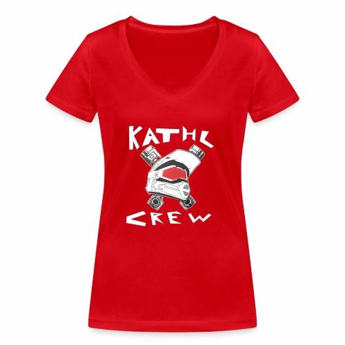 Kathl Crew Logo mit Schriftzug - Frauen Bio-T-Shirt mit V-Ausschnitt von Stanley & Stella