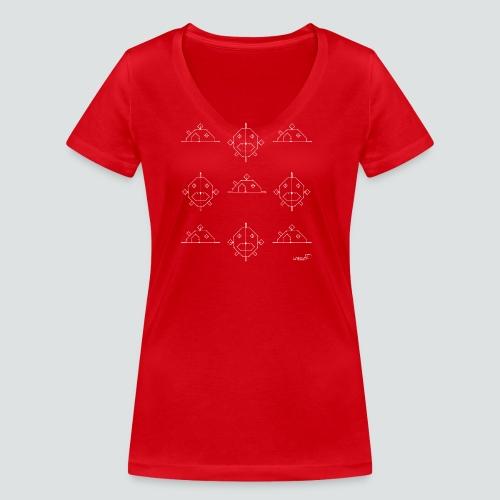 FischHaus 3 png - Frauen Bio-T-Shirt mit V-Ausschnitt von Stanley & Stella
