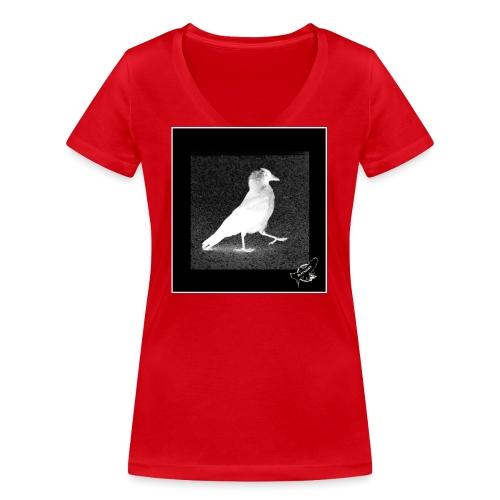 Cool Jackdaw by BlackenedMoonArts, w. logo - Økologisk Stanley & Stella T-shirt med V-udskæring til damer