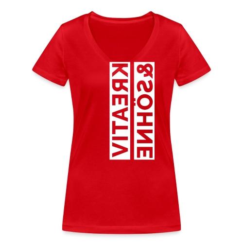 k&s reverse - Frauen Bio-T-Shirt mit V-Ausschnitt von Stanley & Stella