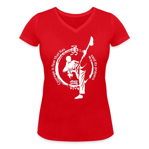 courage1 - Women's Organic V-Neck T-Shirt by Stanley & Stella